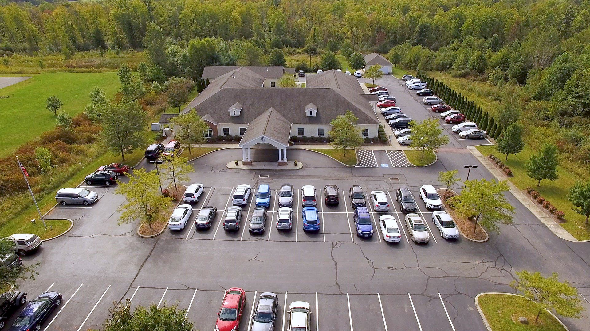 dFs building aerial image